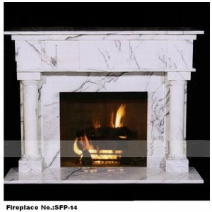Hand Carved Stone Steamline Fireplace (YKSFP-14)