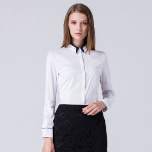 2017 Newest 100% Combed Cotton Long Sleeve Ladies Formal Shirt pictures & photos