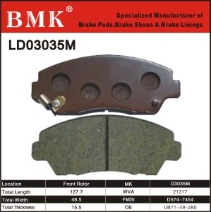 Wear Resistant Brake Pads (D3035M) for Mazda pictures & photos