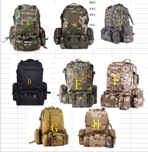 Tactical Backpack Military Camping Backpack Nylon Canvas Bag pictures & photos