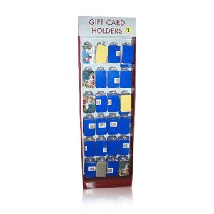Cardboard Floor Display Rack with Hooks, Gift Card Holder Display Stand pictures & photos
