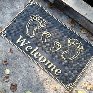 Anti Slip Non Skid Anti-Slip Anti-Skid Non-Slip Non-Skid Slippery Resistant Water Proof PVC Plastic Vinyl Entrance Welcome Door Mats pictures & photos