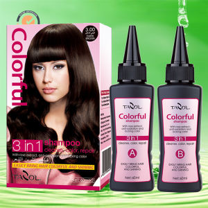 Newest Magical House Use Dark Brown Colorful Shampoo pictures & photos