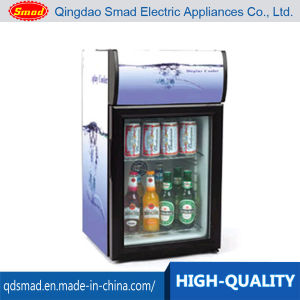 40L Mini Upright Glass Door Showcase with Lamp Type pictures & photos