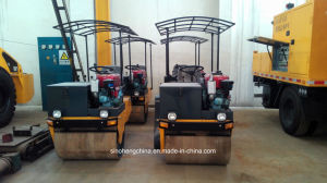 1000kg 1 Ton Double Drum Vibratory Road Roller Yz1 pictures & photos