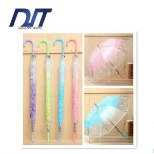Japanese Style Cherry Transparent Umbrella PVC Creative Green Gift Umbrella