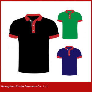 Guangzhou Factory Manufacture Cheap Promotion Men′s Polo T Shirt (P65) pictures & photos