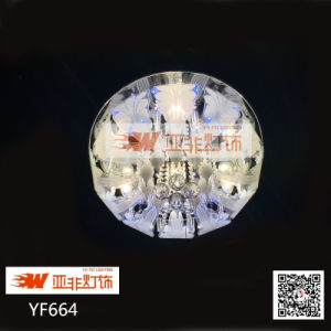 Home Crystal Glass Round Chandelier Price with LED (YF664)