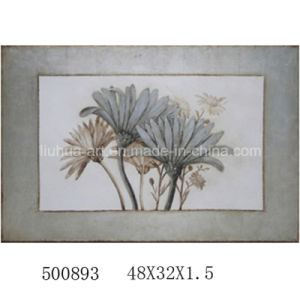 100% Handmade Canvas Flowers Oil Paintings Decorative Picture (LH-500893) pictures & photos