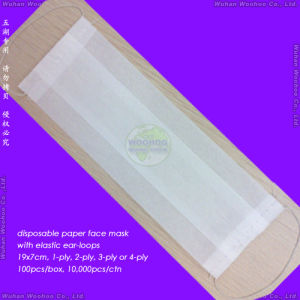 Single Layer/Double Layer/Triple Layer Disposable Paper Face Mask for Food Preparation pictures & photos