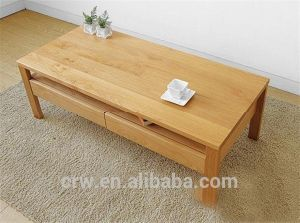 OA-4075 2014 New Design Solid Oak Coffee Table with Two Drawers pictures & photos