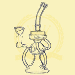 EXW 12inch 32diameter 4thickness Dual Birdcage Percolator Glass Smoking Water Pipe pictures & photos