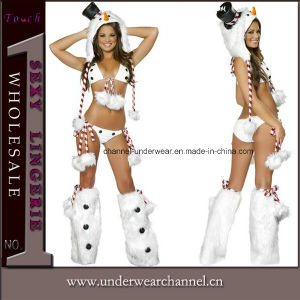 Sexy Snowman Bikini Club Wear Christmas Party Costume Lingerie (1027) pictures & photos