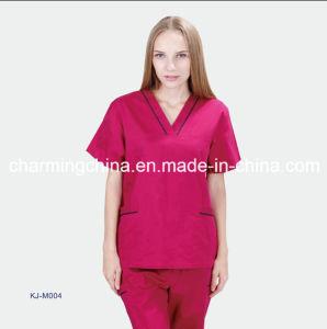 Beautiful Red Hospital Uniform Medical Scrubs