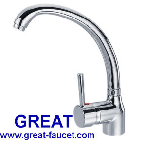 Deck Mounted Single Lever Sink Faucet pictures & photos