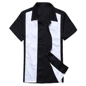 Manufacturer Rockabilly Clothing Bowling Shirts 50s 60s Men Shirt Plus Size pictures & photos