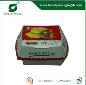 Colourful Food Grade Paper Hamburger Box pictures & photos