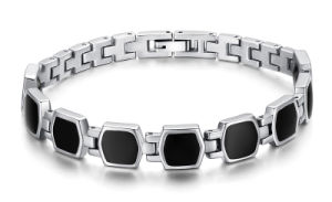 Zircon Diamond Mounted Stainless Steel Health Care Energy Bracelet pictures & photos