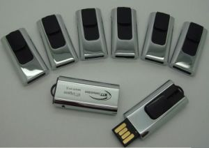 Custom Free Logo on Silver USB Flash Drive pictures & photos