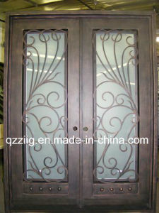 Double Wrought Iron Entry Door (ZY-IR061)