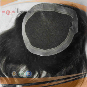 Black Human Hair Hand Tied Full Lace Hairpiece pictures & photos