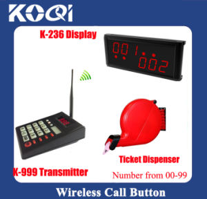 New Arrive Wireless Queue System for Restaurant with Tickets Dispenser pictures & photos