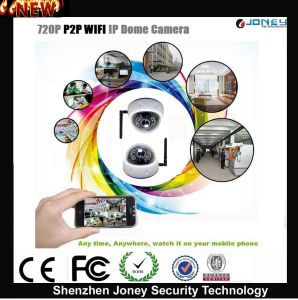 Motion Detection 720p 1 Mega Pixels P2p Wireless WiFi IP Camera with Remote Control pictures & photos