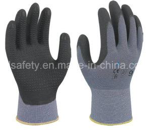 Safety Work Glove with Superfine Foam Nitrile Dipping (N1567) pictures & photos