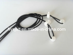 White Lock Elastic Latex Shoelace No Tie Lock Lace pictures & photos