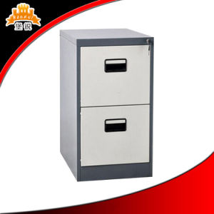 New Design Bedside Steel Cabinet with Two Drawers pictures & photos