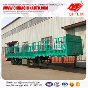 30t - 60t Column Board Fence Semi Trailer for Farm Products Loading pictures & photos