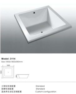 Top Selling Deluxe Insert Acrylic Bathtub pictures & photos