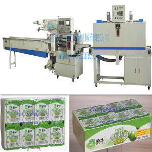 Omron Servo Motor Automatic Yogurt Cup Shrink Wrapping Machine pictures & photos