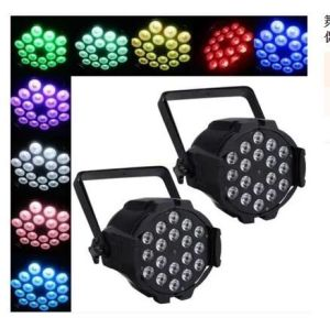 12PCS/18PCS 4 in 1 Full-Color Waterproof PAR Lamp for Club Party Lamp Discos Music Light pictures & photos