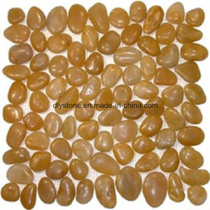Yellow Micro Polished Stone Footpath Tile Pebble pictures & photos