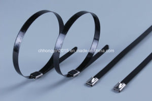 10*450mm Hot Sale 10*400mm PVC Coated Stainless Steel Cable Ties pictures & photos