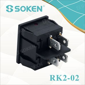 Rk2-02 on off on 6 Pins Rocker Switch CQC pictures & photos