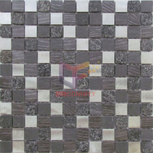 Quartz and Slate Stone Mix Aluminium Mosaic Tile (CFA94) pictures & photos