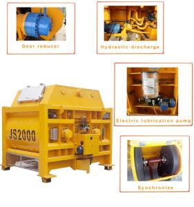 Js2000 Forced Concrete Mixer for Hzs120 Concrete Mixing Plant pictures & photos