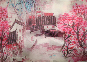 Printing Silk Crepe De Chine Fabric pictures & photos