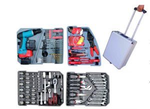 168PCS Alumium Case Tool Kit with Cordless Drill (FY168A) pictures & photos