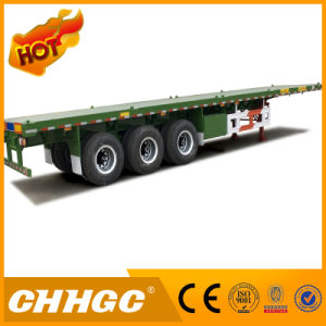 3axle 40FT Flatbed Container Semi Trailer for Sale pictures & photos