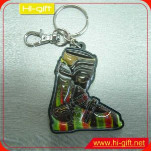 Custom Cheap Gift Full Color Printed Rubber Keychain (M103)