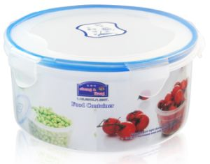 3PCS Round Microwave Food Container with Lock Lid pictures & photos