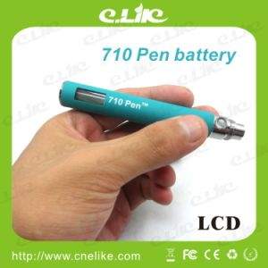 710 Pen LCD Battery Go with Large Capacity Wax Atomizer E-Cigarette