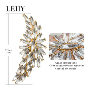 1 Piece Glass Rhinestone Big Wing Ear Cuff Clip on Earrings pictures & photos