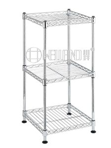 Square 3 Shelves DIY Household Metal Chrome Corner Wire Rack pictures & photos