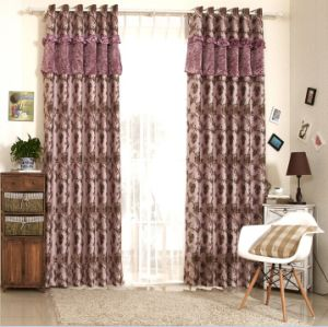 Simple Style Yarn Dyed Jacquard Fabric Curtain (MX-173) pictures & photos