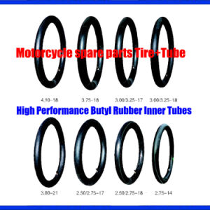 Motorcycle Spare Parts, High Performance Butyl Rubber Tubes, Tyres and Tubes 2.75-21, 3.00-21 pictures & photos