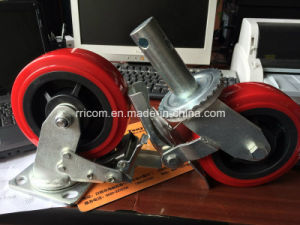 Scaffolding Heavy Duty PU Caster Wheels pictures & photos